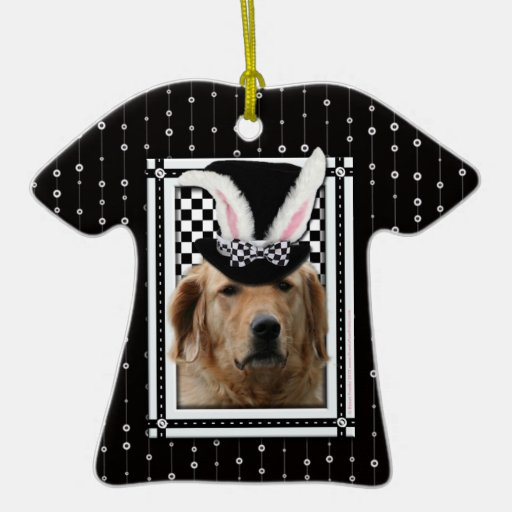 Easter - Some Bunny Loves You - Golden Retriever Christmas Tree Ornaments