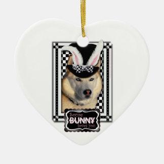 Easter - Some Bunny Loves You - Husky Christmas Ornaments