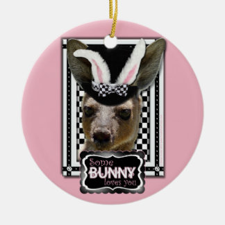 Easter - Some Bunny Loves You - Kangaroo Ornaments