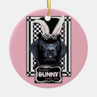 Easter - Some Bunny Loves You - Labrador - Black Christmas Tree Ornament