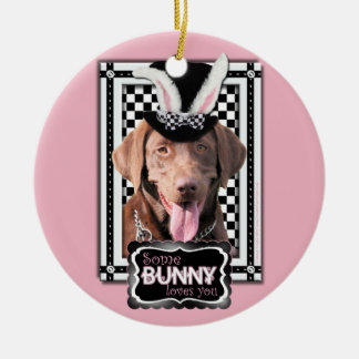Easter - Some Bunny Loves You - Labrador Chocolate Christmas Ornaments