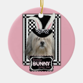Easter - Some Bunny Loves You - Lowchen Christmas Ornaments