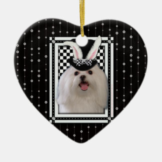 Easter - Some Bunny Loves You - Maltese Christmas Ornament