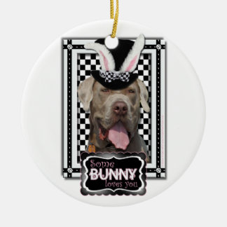 Easter - Some Bunny Loves You - Mastiff Double-Sided Ceramic Round Christmas Ornament