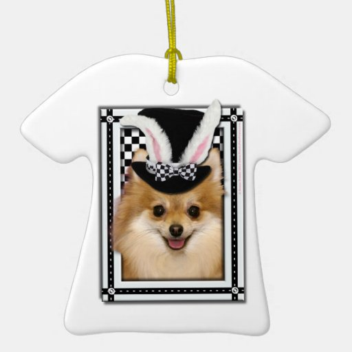 Easter - Some Bunny Loves You - Pomeranian Ornament