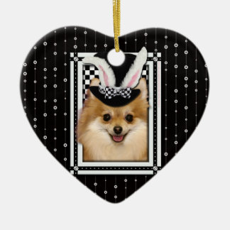 Easter - Some Bunny Loves You - Pomeranian Christmas Tree Ornament