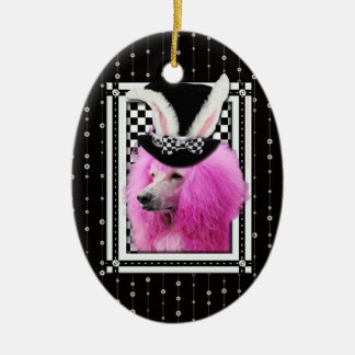 Easter - Some Bunny Loves You - Poodle - Pink Ornament