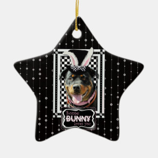 Easter - Some Bunny Loves You - Rottweiler Christmas Ornaments