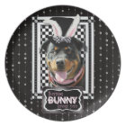 Easter - Some Bunny Loves You - Rottweiler Plate