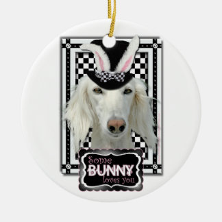 Easter - Some Bunny Loves You - Saluki Ornament