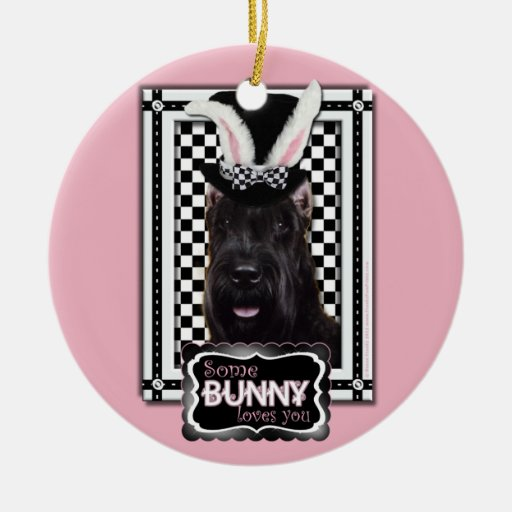 Easter - Some Bunny Loves You - Schnauzer Christmas Ornament