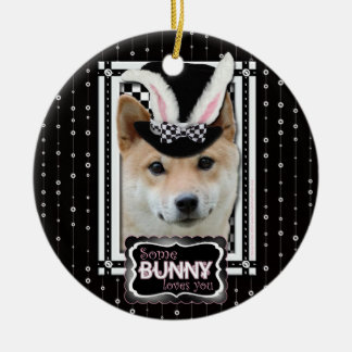 Easter - Some Bunny Loves You - Shiba Inu Christmas Tree Ornaments