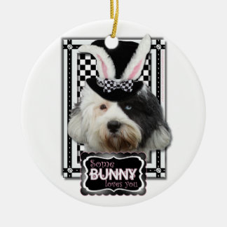 Easter - Some Bunny Loves You - Tibetan Terrier Christmas Tree Ornaments