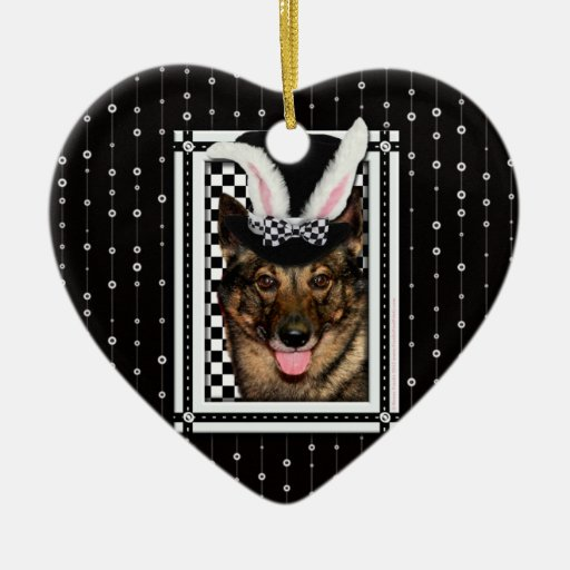 Easter - Some Bunny Loves You - Vallhund Christmas Tree Ornaments
