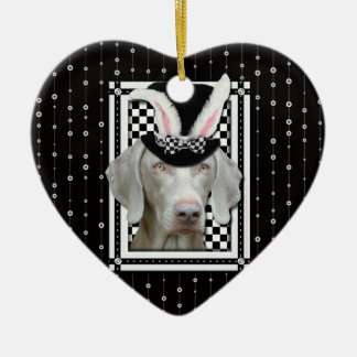Easter - Some Bunny Loves You - Weimaraner Ornament