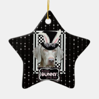 Easter - Some Bunny Loves You - Weimaraner Christmas Tree Ornament