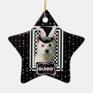 Easter - Some Bunny Loves You - Westie Ceramic Star Decoration