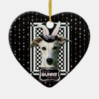 Easter - Some Bunny Loves You - Whippet Ornament