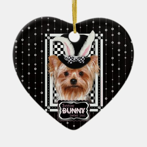 Easter - Some Bunny Loves You - Yorkie Ornament