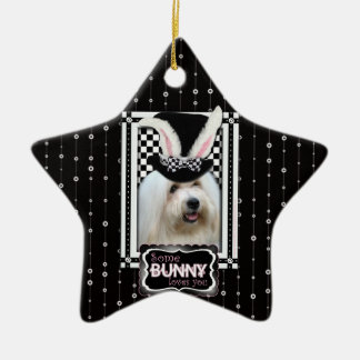 Easter - Some Bunny Loves YouCoton deTulear Christmas Ornaments