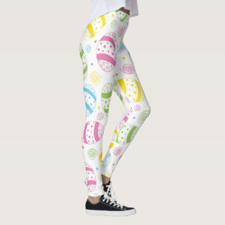 Easter Spring Pattern Leggings