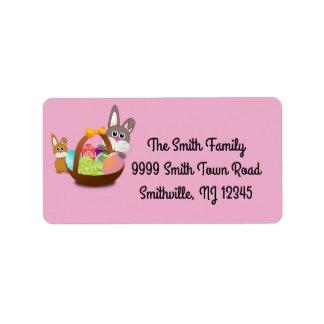 Easter Spring Return Address Labels