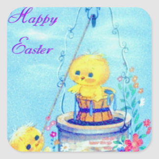Easter Square Sticker