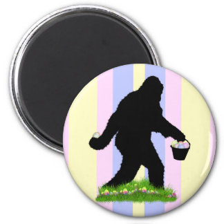 Easter Squatch 6 Cm Round Magnet