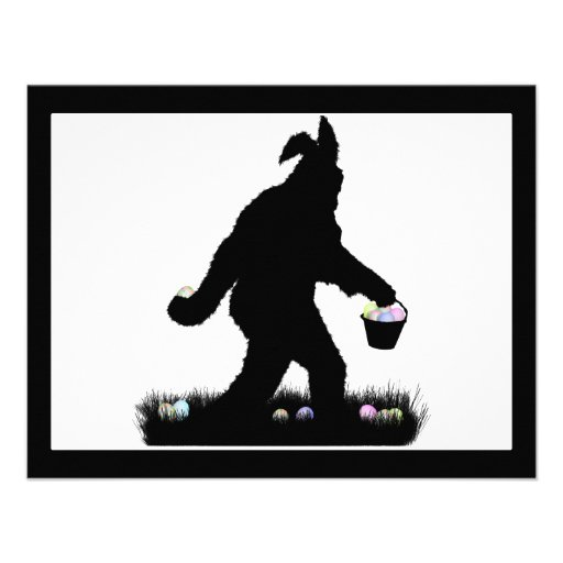 Easter Squatch with Bunny Ears Announcements