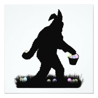 Easter Squatch with Bunny Ears Announcement