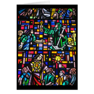 easter stain glass card