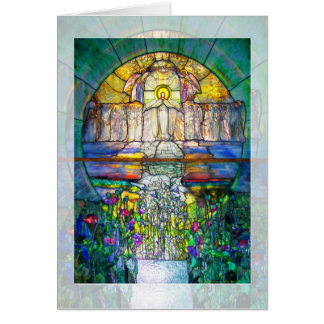 Easter Stained Glass Window Card
