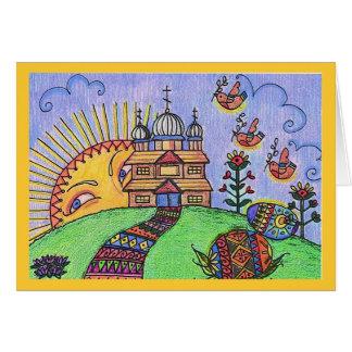 Easter Sunrise Ukrainian Folk Art Card