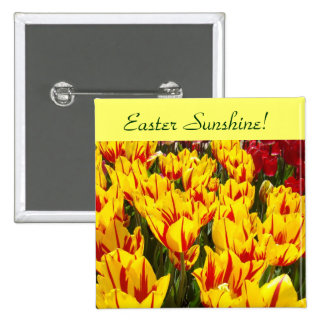 Easter Sunshine buttons Yellow Tulips Flowers