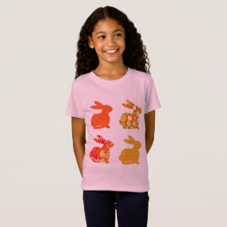 Easter t-shirt with cute bunnies