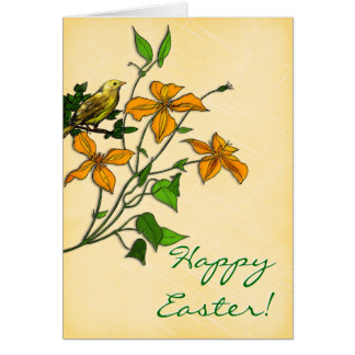 Easter TIger Lily Personalized Card