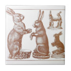 Easter Tile Antique Chocolate Mould Bunny