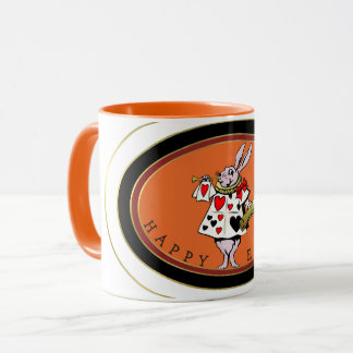 EASTER TIME, BUNNY ANNOUNCES EASTER, CLASSIC BOOK MUG
