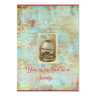 Easter Vintage Egg Hunt party invitation