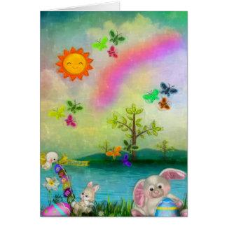 Easter Whimsey CUSTOM Greeting Folk Art Note Card