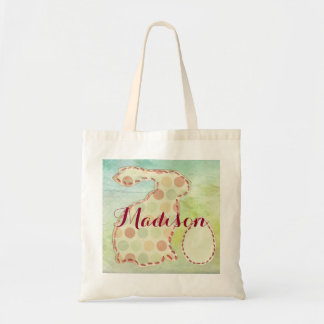 Easter Wishes Personalized Tote with Bunny