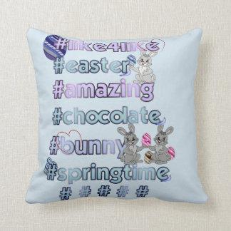 Easter with hashtags cushion