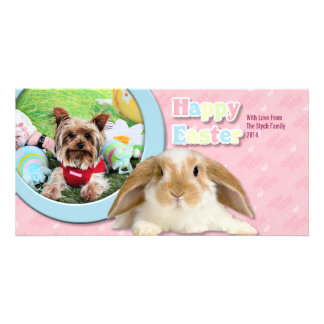 Easter - Yorkshire Terrier - Sassy Photo Greeting Card