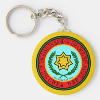 Eastern Band Of The Cherokee Seal Key Ring