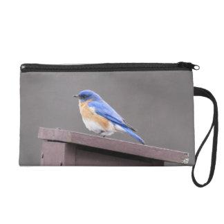 Eastern Bluebird Wristlet Purses