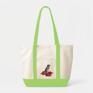 Eastern Bluebird Camellia Bag