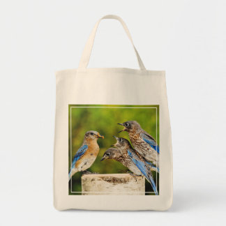 Eastern Bluebird Grocery Tote Bag
