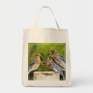 Eastern Bluebird Grocery Tote Bag