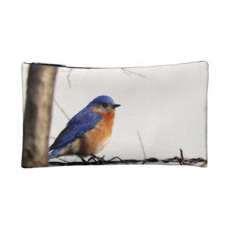 Eastern Bluebird Photo Makeup Bag