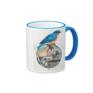"""""""Eastern Bluebird"""" Ringer Mug"""